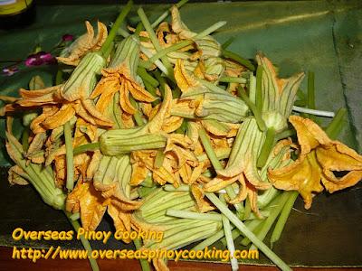 Ginataang Halaan with Malungay at Bulaklak ng Kalabasa - Squash Flowers