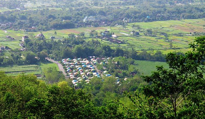 Desa Wisata Dome dari Gardu Pandang Bukit Teletubbies
