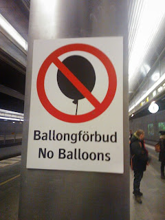 swedish railways funny sign balloons forbidden