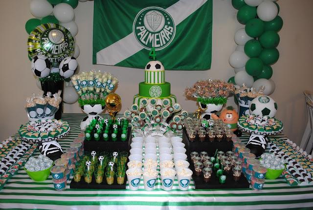veja aqui muitas dicas de festa de decoração para futebol do Palmeiras