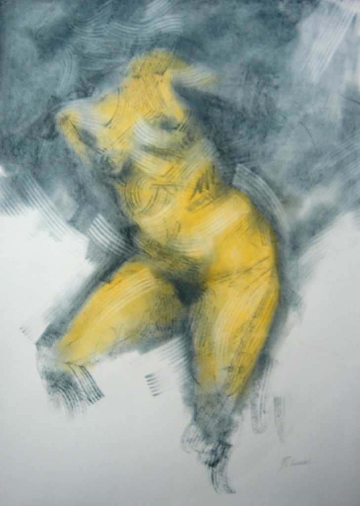 Vestidor femenino profesor desnudo emocionado