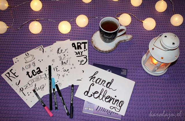 hand lettering - mój sposób na nudę