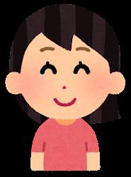 困る表情のイラスト1(女性)