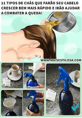 chá para os cabelos
