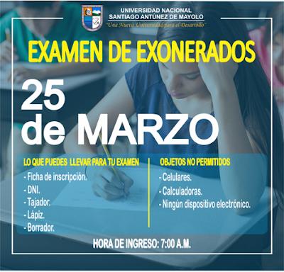 Examen Extraordinario UNASAM