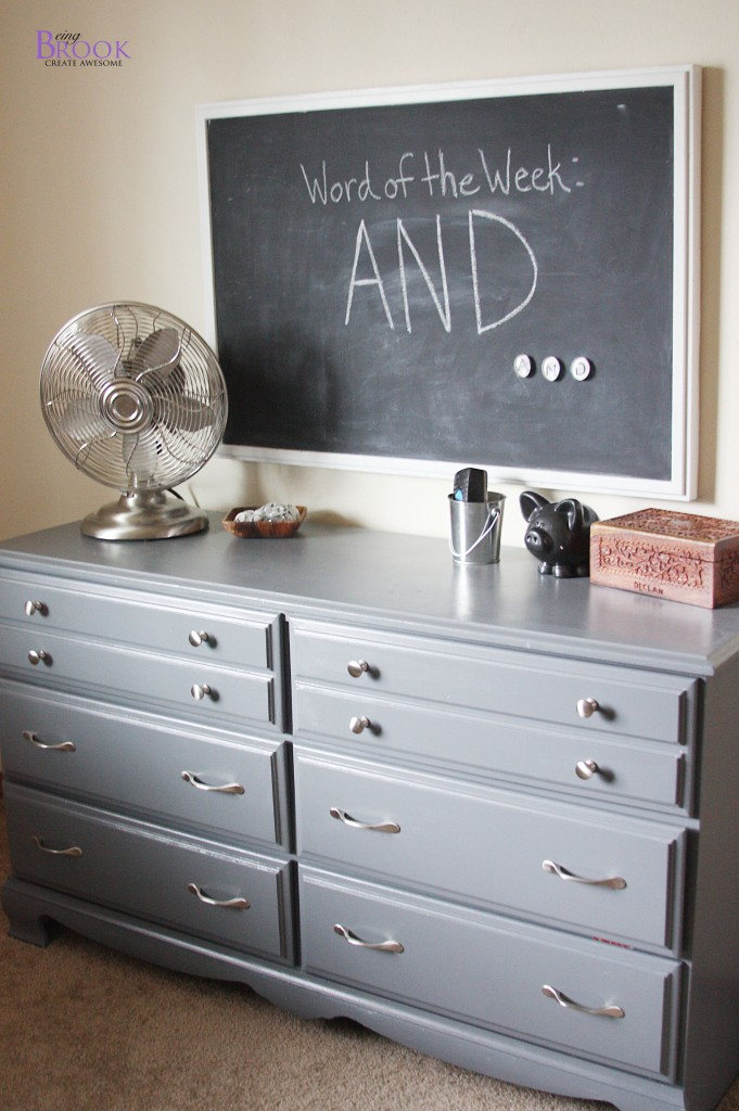 Painting A Dresser Gray Dinosaur Boy Bedroom Beingbrook