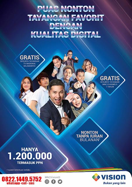 Indovision tanpa bayar bulanan MNC Vision Cirebon