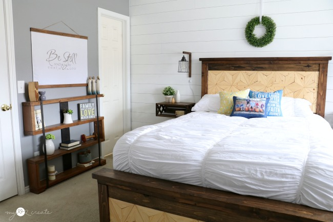 This Master Bedroom Reveal is chalk full of amazing DIY Projects with DIY tutorials and plans from MyLove2Create