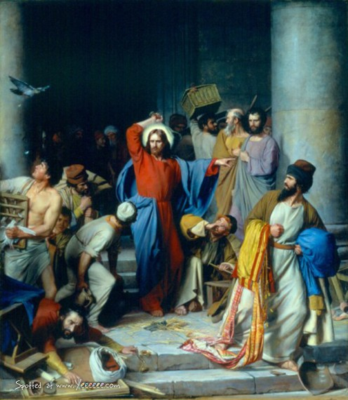 CHRIST CASTS OUT THE MONEYCHANGERS