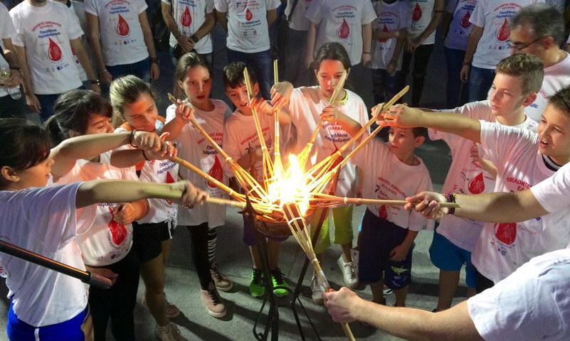 Τη Φλόγα της Αγάπης των Εθελοντών Αιμοδοτών υποδέχθηκε η Ορεστιάδα