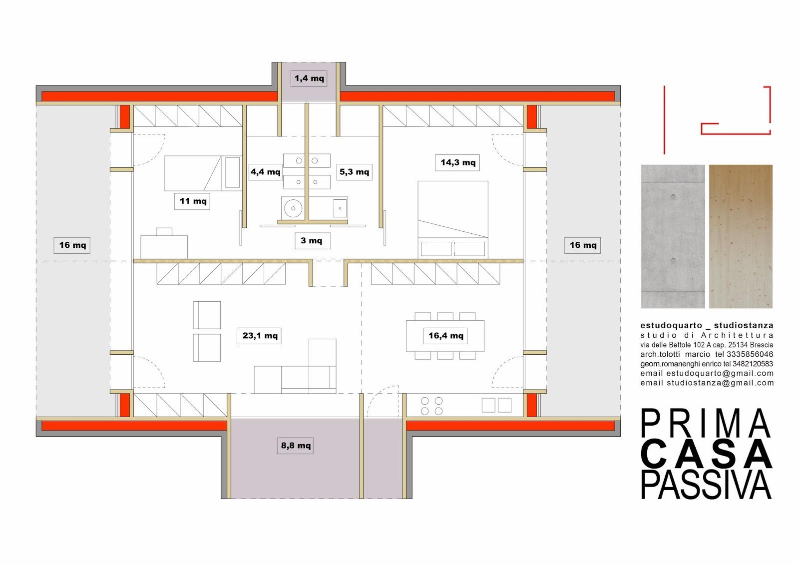Excellent planimetria di prima casa passiva di mq al costo for Un costo di costruzione della casa di legno