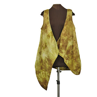 secret lentil linen lagenlook plus size long layeirng vest hand dyed