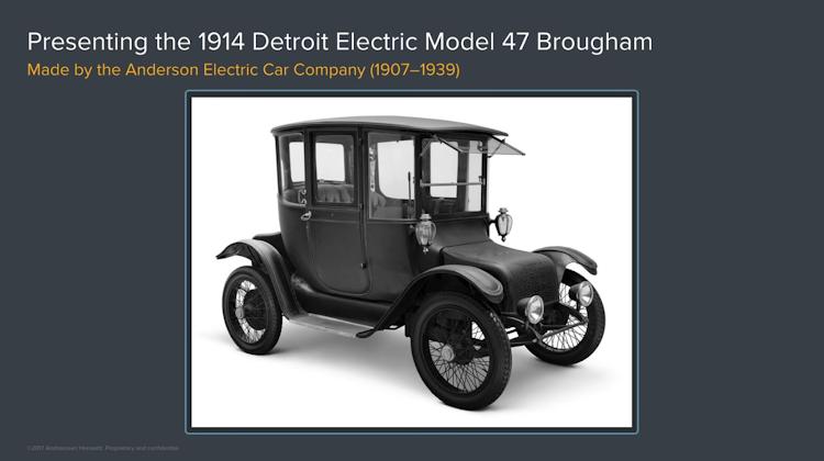 Один из первых массовых электро-автомобилей