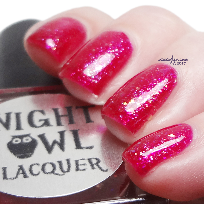 xoxoJen's swatch of Night Owl Lacquer Yes Way Rose