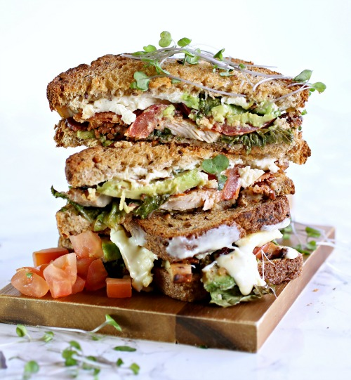Cobb Salad Grilled Cheese Sandwich