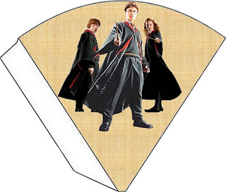 Harry Potter Free Printable Cones.