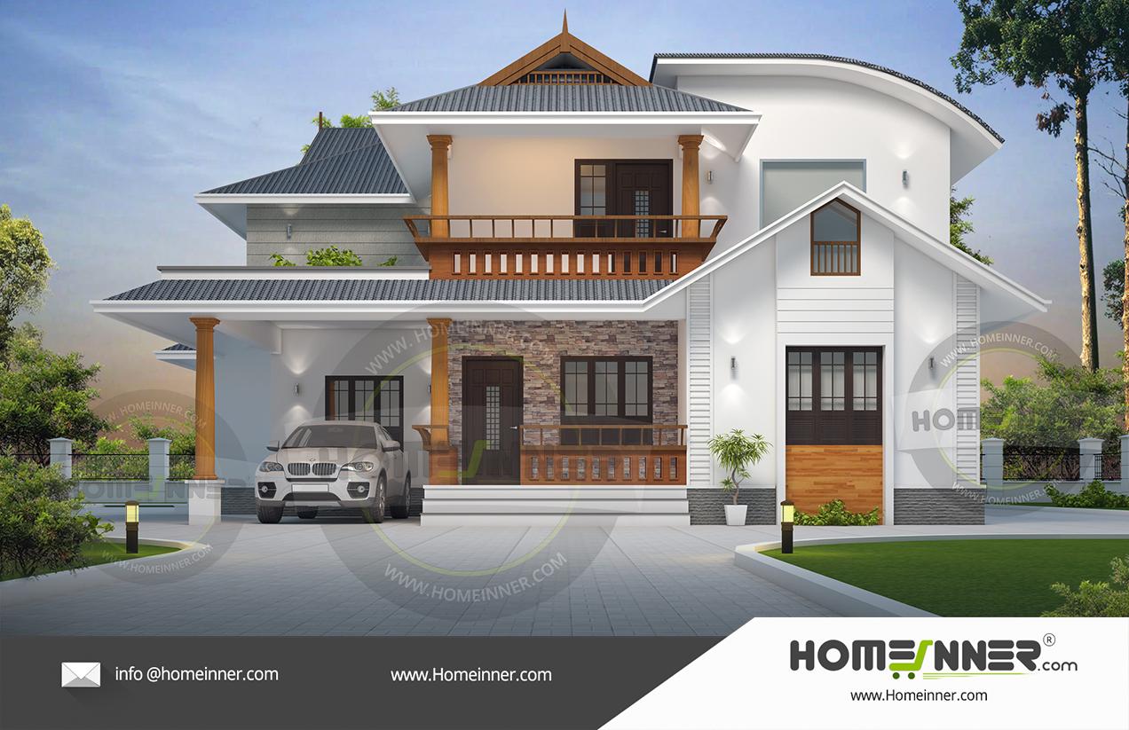 Kerala Home Design Traditional Villa Elevation Concepts