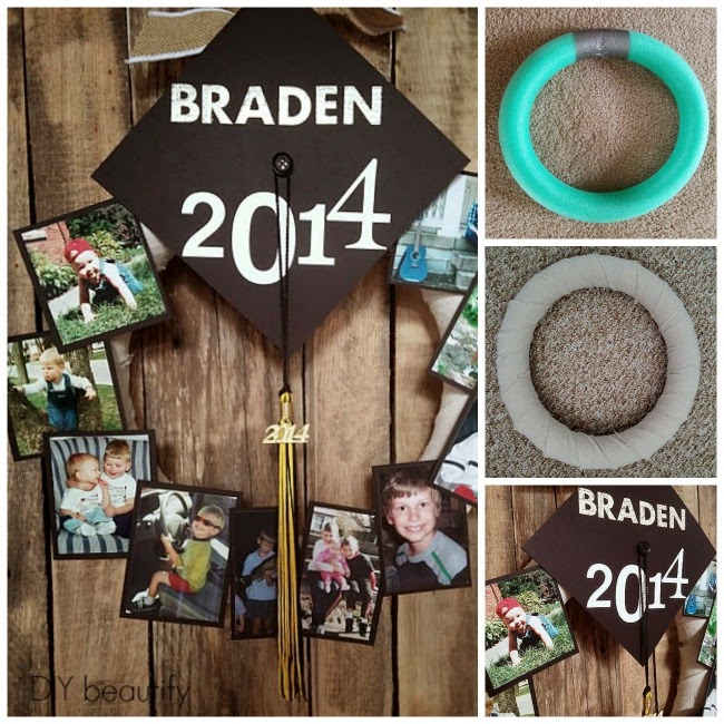 DIY graduation memory wreath