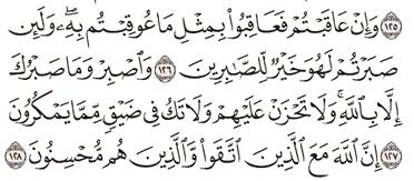 Tafsir Surat An-Nahl Ayat 126, 127, 128