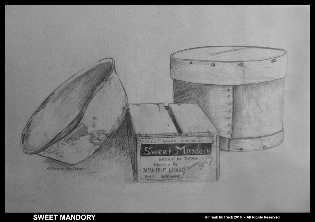 Frank McTruck 'still life' pencil drawing - 'Sweet Mandory'