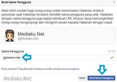 Mengubah Link (URL) Di Halaman Facebook