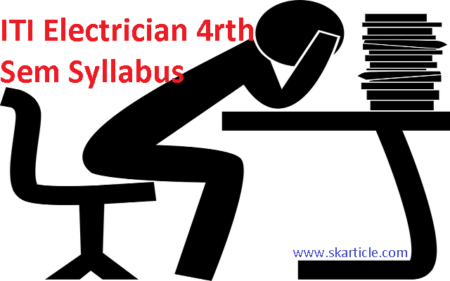 ITI Syllabus for Electrician 4rth Semester