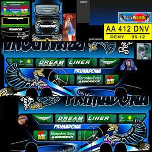 Livery Bussid SDD Primadona Biru