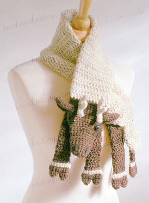 Crochet sheep Scarf