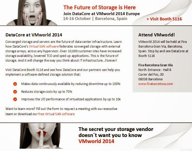 The Future of Storage ;DataCore auf der VMworld Europe