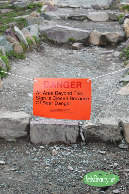 danger all area beyond this sign closed due to bear danger signs navigating glacier national park family hiking trip