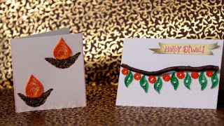 diwali card decoration