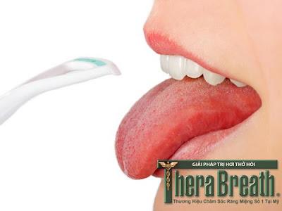 Kiểm tra hơi thở có mùi dựa vào màu sắc của lưỡi