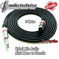 Kabel Mic XLR Audio Female To Jack Akai Mono Canon Canare 5 Meter