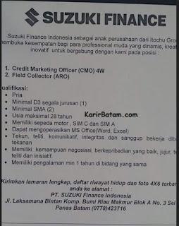 Lowongan Kerja PT. Suzuki Finance Indonesia
