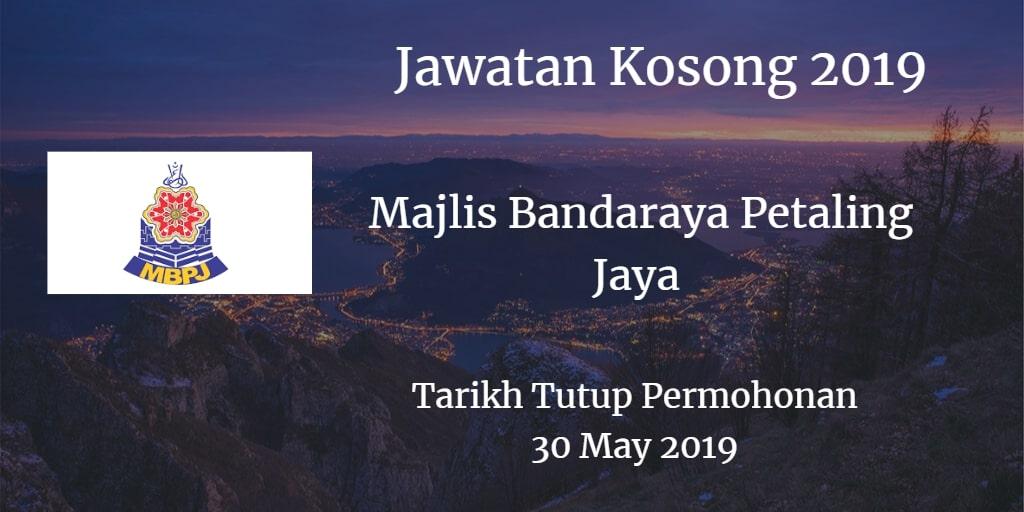 Jawatan Kosong MBPJ 30 May 2019