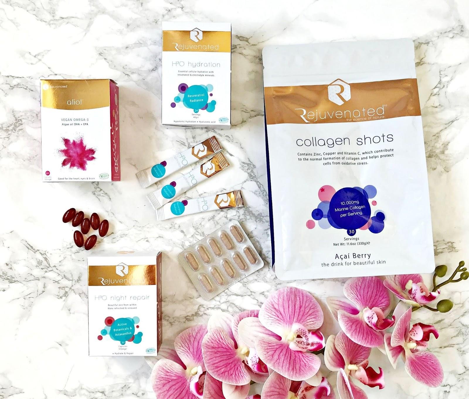 Aliol, Collagen Shots, Giveaway, H30 Hydration, H30 Night Repair, Rejuvenated, skincare, Supplements, Vegan Omega 3,