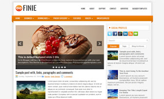 Finie Blogger Template