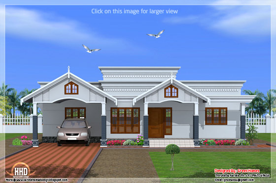 4 bedroom single floor Kerala house