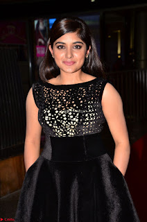 Niveda Thomas Black Sleeveless Cute Dress at 64th Jio Filmfare Awards South 2017 ~  Exclusive 051.JPG