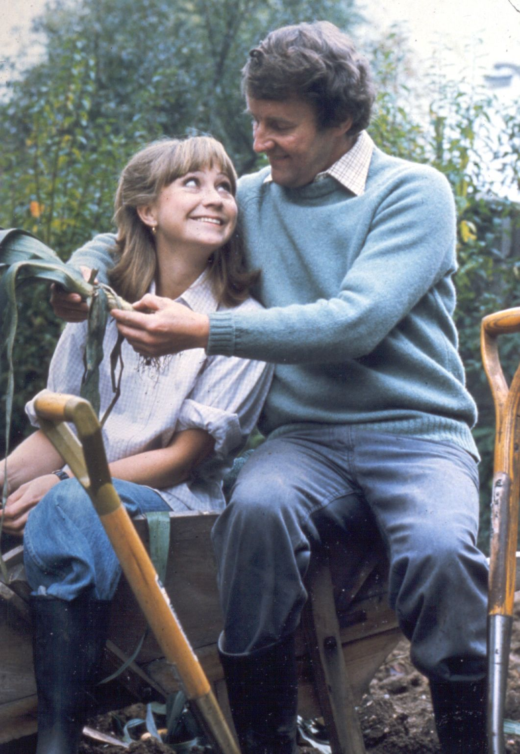 An image of the two main characters from The Good Life: Tom Good and Barbara Good