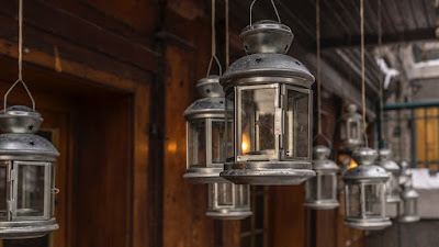 Selection of glass lanterns
