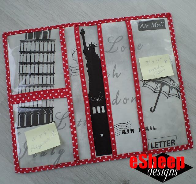 Travel Document Folder by eSheep Designs
