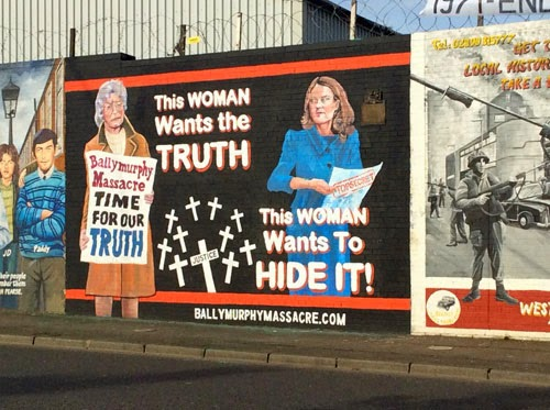 Republican Murals in Belfast, Northern Ireland, Britain.