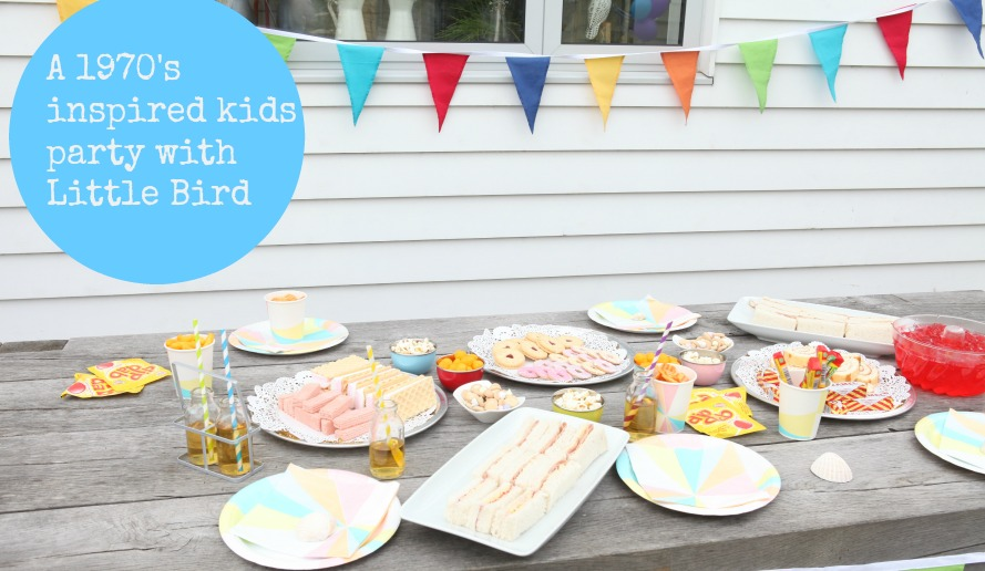 V. I. BIRTHDAY: A retro 1970's kids tea birthday  party with Little Bird at Mothercare