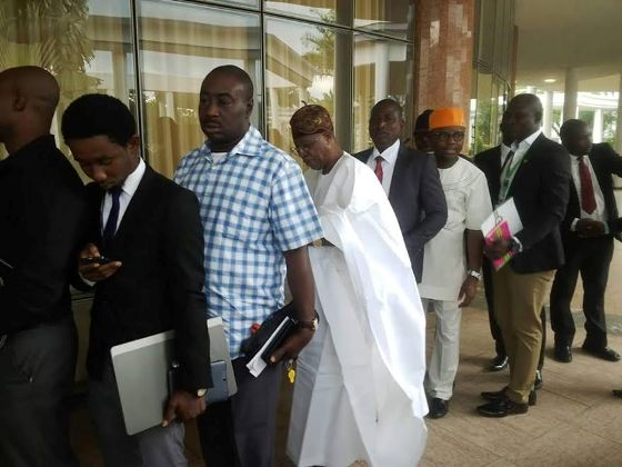 Change begins with Lai Mohammed: Minister of Information pictured in a queue