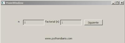 Factorial en PyQt4