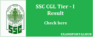 Check SSC CGL Tier-1 result check here