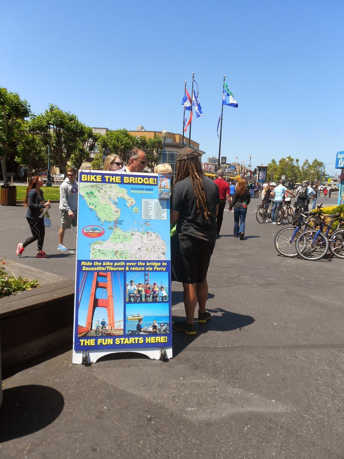 Aluguel de bike para atravessar a Golden Gate