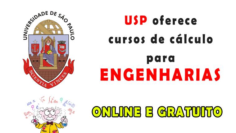 USP oferece dois cursos de cálculo para Engenharia online e gratuito