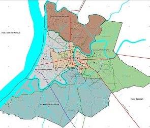 Peta Administrasi Kota Banjarmasin